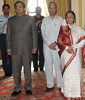 File photo of Thomas with President Pratibha Patil