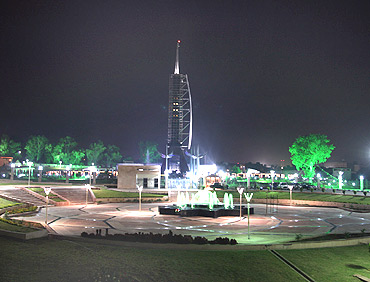 The memorial in the night