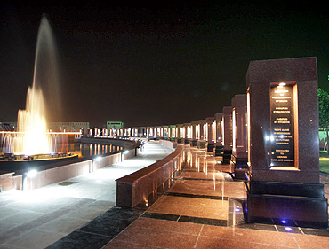 The pillars with the names of the martyrs