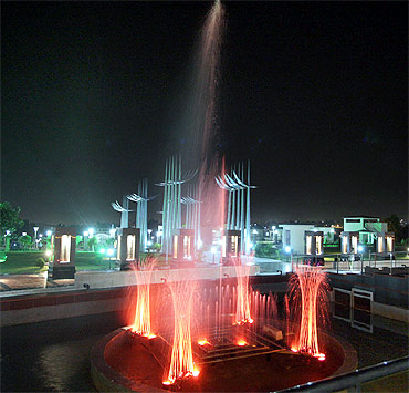 The Tower of Sacrifice in the night