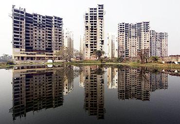 Residential apartments under construction in Kolkata
