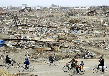 Life amidst the debris after the earthquake in Natori, Japan