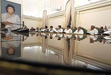Tribal leaders hold a meeting in Tripoli