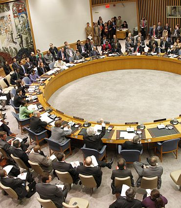 UN Security Council votes on the No Fly Zone resolultion