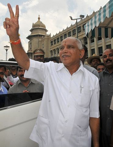 BJP rebels plot Yeddyurappa's fall in New Delhi