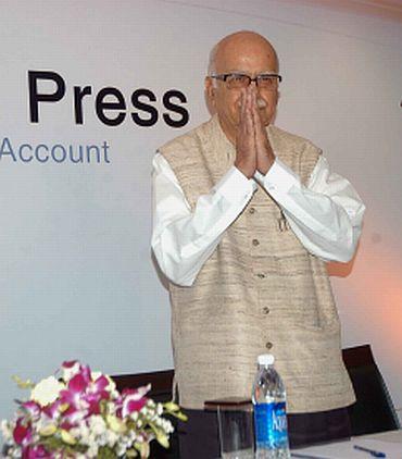 BJP leader LK Advani at a meet in Mumbai