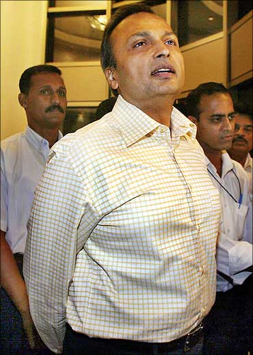 Reliance Infocomm Chairman Anil Ambani