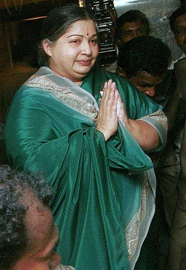 AIADMK chief J Jayalalitha