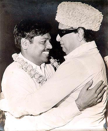 Panruti Ramachandran with MGR