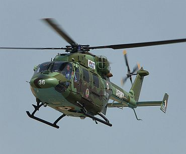 India to equip Dhruv helicopters with missiles