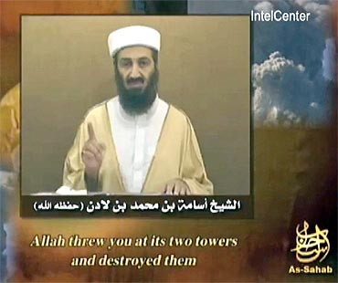 A TV grab showing Osama bin Laden