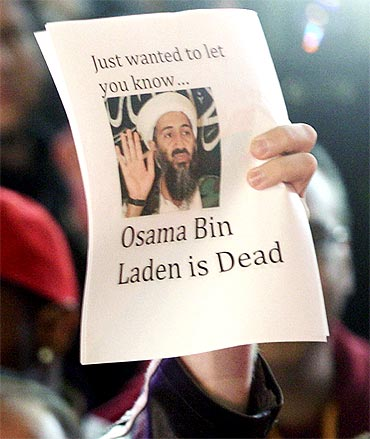 People celebrate after Al Qaeda leader Osama bin Laden was killed in Pakistan