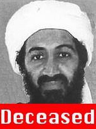 A screen grab from FBI's Most Wanted website taken shows the status of Osama bin Laden as deceased.