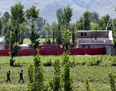 Osama's complex was located 800 yards from the Pakistan military academy