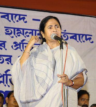 Mamata addressing a public rally