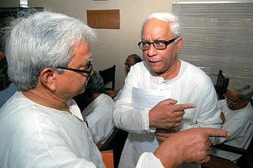 Biman with WB Chief Minister Buddhadeb Bhattacharjee