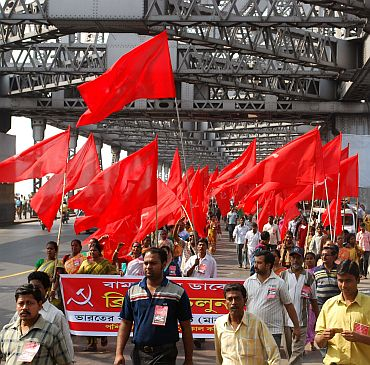A Left Front rally in Kolkata