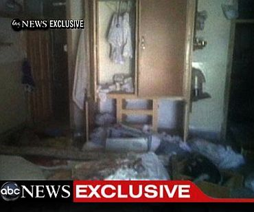 A frame grab obtained from ABC News shows the interior in the mansion where Osama Bin Laden was killed