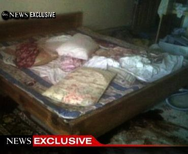 A frame grab obtained from ABC News shows the interior bedroom in the mansion where Osama Bin Laden was killed