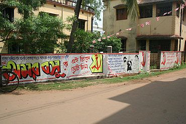 CPM graffiti seeking votes