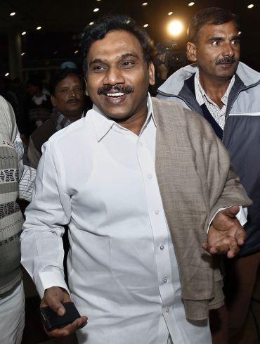 Former Telecom Minister A Raja