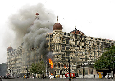 Hotel Taj Mahal during the 26/11 attacks