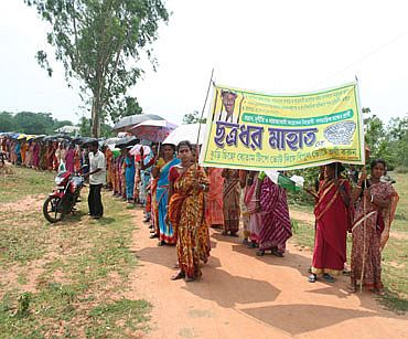 A rally organised by Chhatradhar's supporters
