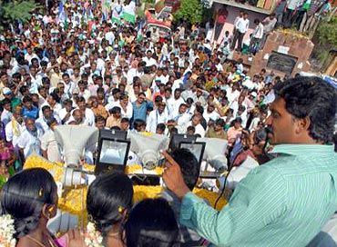 Jagan Reddy's rallies are a show of strength