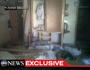 This video frame grab, obtained from ABC News, shows the interior in the mansion where Osama Bin Laden was killed