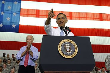 President Obama speaks to troops at Fort Campbell in Kentucky
