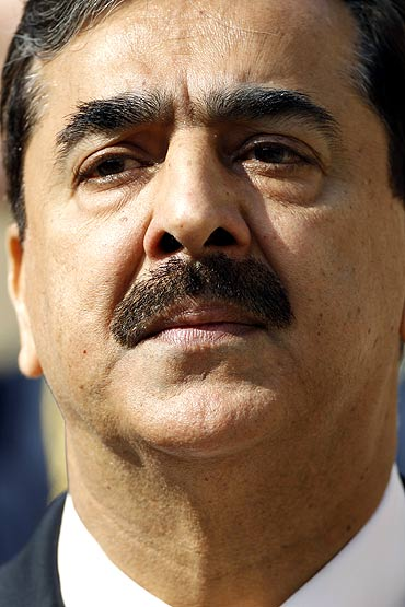 Pakistan's Prime Minister Yousuf Raza Gilani