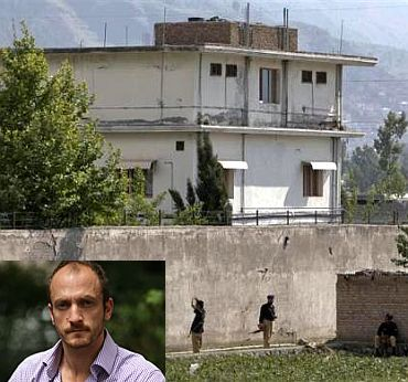 The Abbottabad compound where Osama was killed. (Inset) Jason Burke