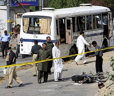 File photo of a terror attack in Karachi