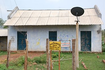 The primary health centre in Amlashol, its doors firmly shut