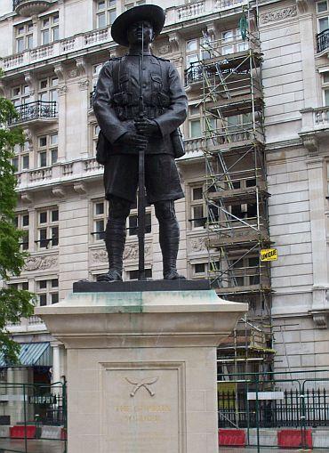 The British Memorial to Brigade of Gurkhas at London