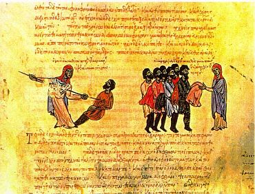 Varangian Guardsmen, an illumination from the Skylitzis Chronicle