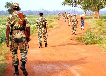 CRPF personnel are a common sight in Lalgarh