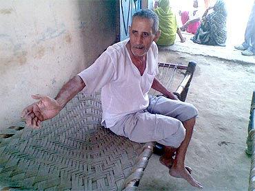Mukat Lal Sharma, whose son Indejit was allegedly taken away by the police