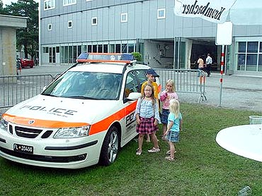 A police streetcar