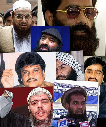 Some of the terrorists who are on India's most wanted list