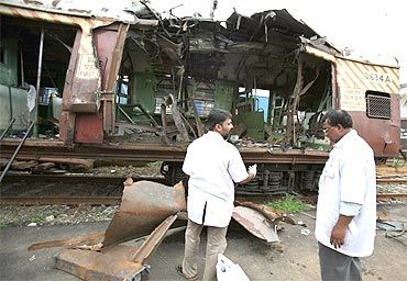 The train blasts in Mumbai in 2006