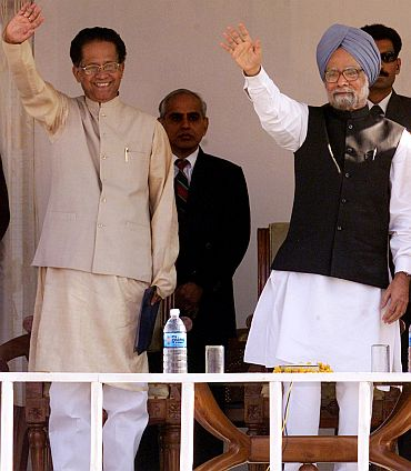 Gogoi with PM Dr Singh
