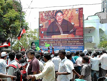 Jayalalithaa's supporters gather outside her house in Poes Garden, Chennai