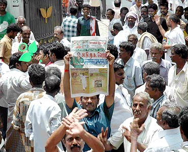 In PHOTOS: Chennai cheers for Jaya; DMK sulks