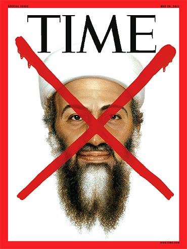-The cover of a special edition of TIME magazine devoted to the death of Osama bin Laden