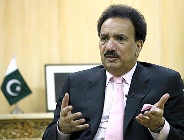 Pakistan's Interior Minister Rehman Malik