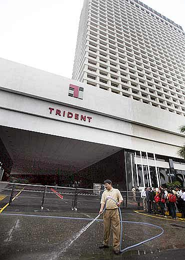 The Trident hotel, one of the sites of the 26/11 attack