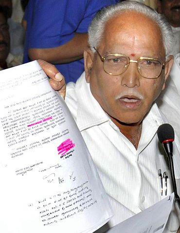 'Yeddyurappa doesn't want to govern; he only wants to protect his chair'