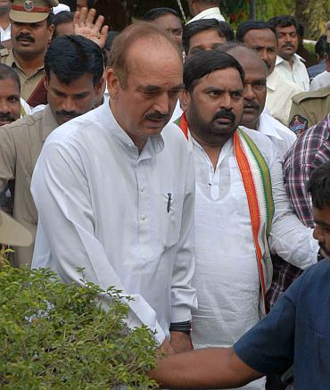Ghulam Nabi Azad in Hyderabad