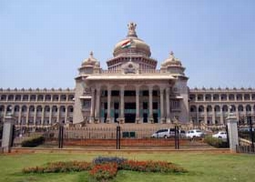 Congress stages dharna in front of Vidhan Soudha